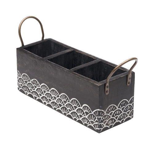 Wood Vasant Flatware Caddy - Matr Boomie (T) - Urban Hollywood | UrbanHollywood.com