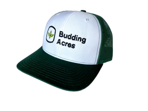 Budding Acres Green Trucker Cap - KeenLeaf