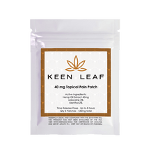 Load image into Gallery viewer, CBD Topical Pain Patch - KeenLeaf