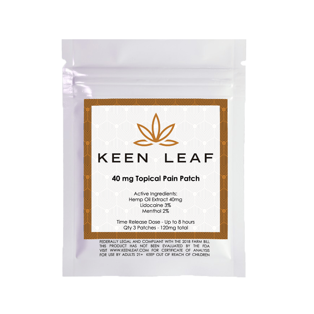 CBD Topical Pain Patch - KeenLeaf