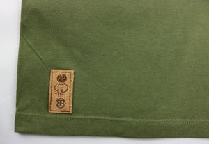 Trunk Insert Crewneck Tee in Military Green