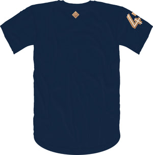 47 B Wing Insert Short Sleeve Tee- Navy