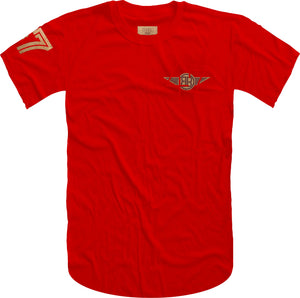 47 B Wing Insert Short Sleeve Tee- Red