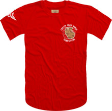 Load image into Gallery viewer, Create Your World Short Sleeve Tee- Red/White Embroidery