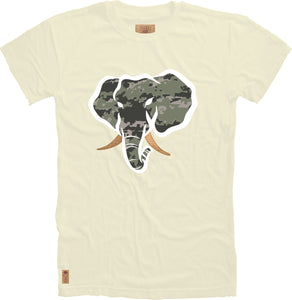 Trunk Insert Crewneck Tee in Cream