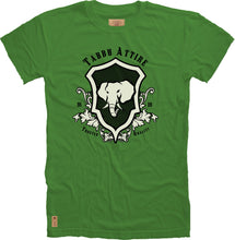 Load image into Gallery viewer, Elephant Shield Crewneck Tee in Green