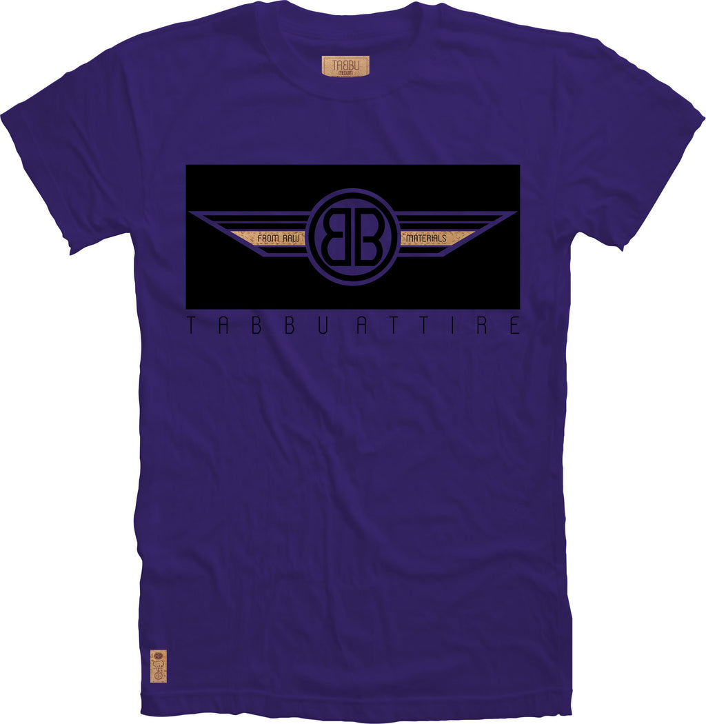 Double B Wing Crewneck Tee in Purple