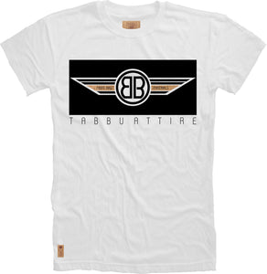 Double B Wing Crewneck Tee in White