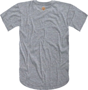 Handwritten Elephant Trunk Insert Short Sleeve Tee- Grey