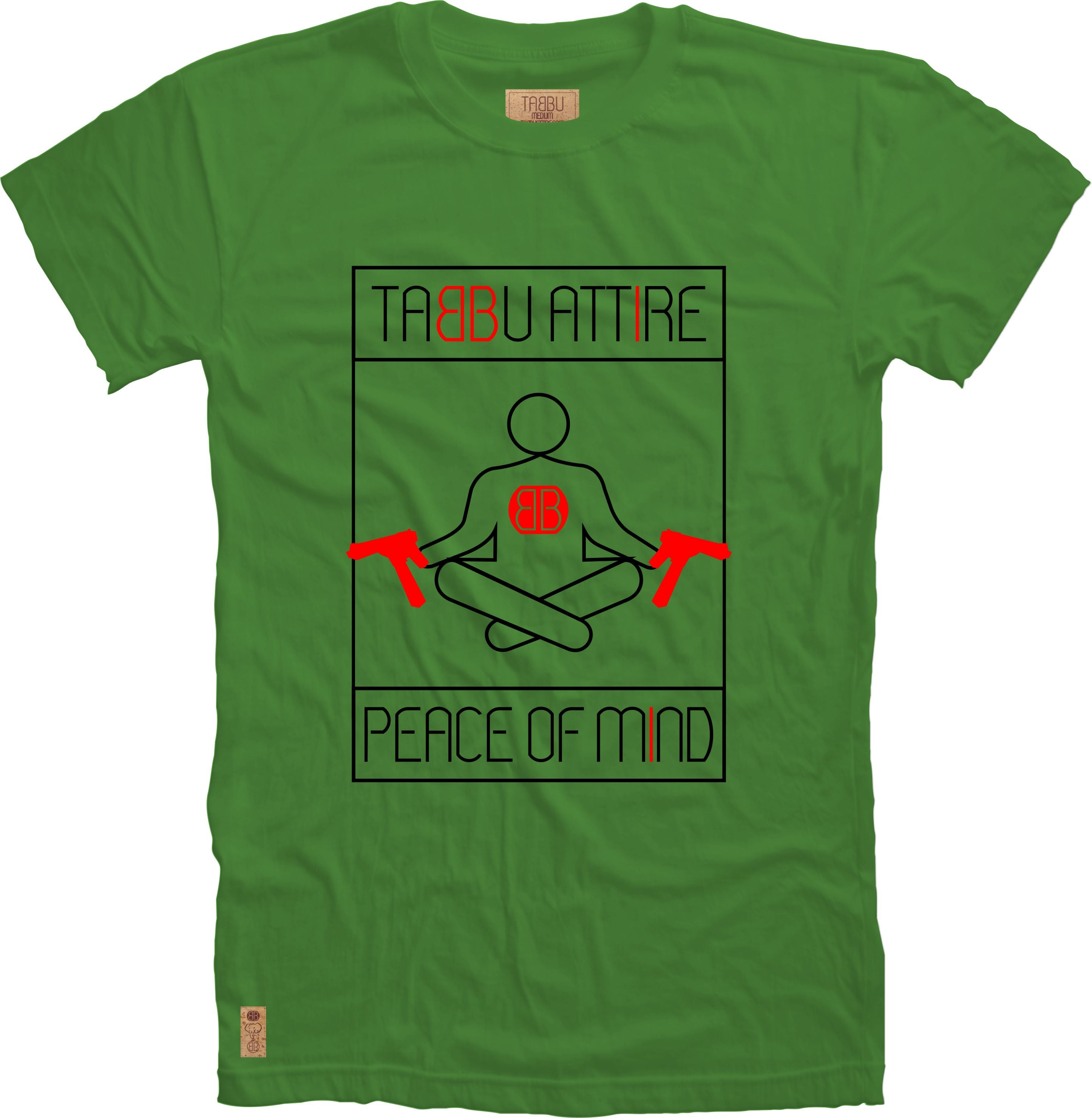 Peace of Mind Crewneck Tee in Green