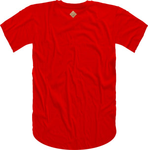 B Wing Cork Insert Short Sleeve Tee- Red
