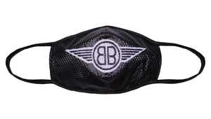 B Wing Face Mask in Black with White Classic or Reversible
