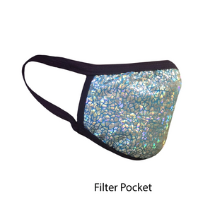 .Holographic Cracks Adjustable Strap