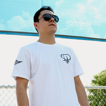 Load image into Gallery viewer, Oversized Elephant Head Tee-White/Gold