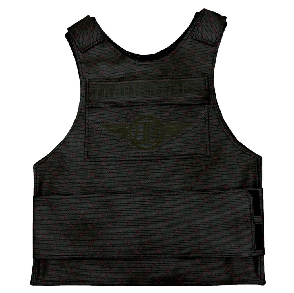 Premium Vest Black on Red