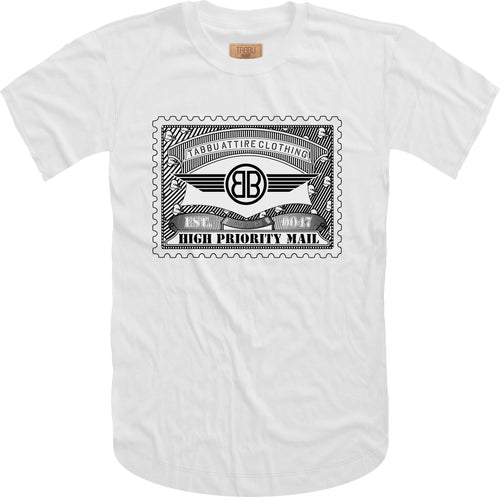 Tabbu Mail Stamp Short Sleeve Tee- White