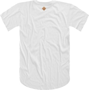 B Wing Cork Insert Short Sleeve Tee- White