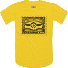 Load image into Gallery viewer, Tabbu Mail Stamp Short Sleeve Tee- Yellow