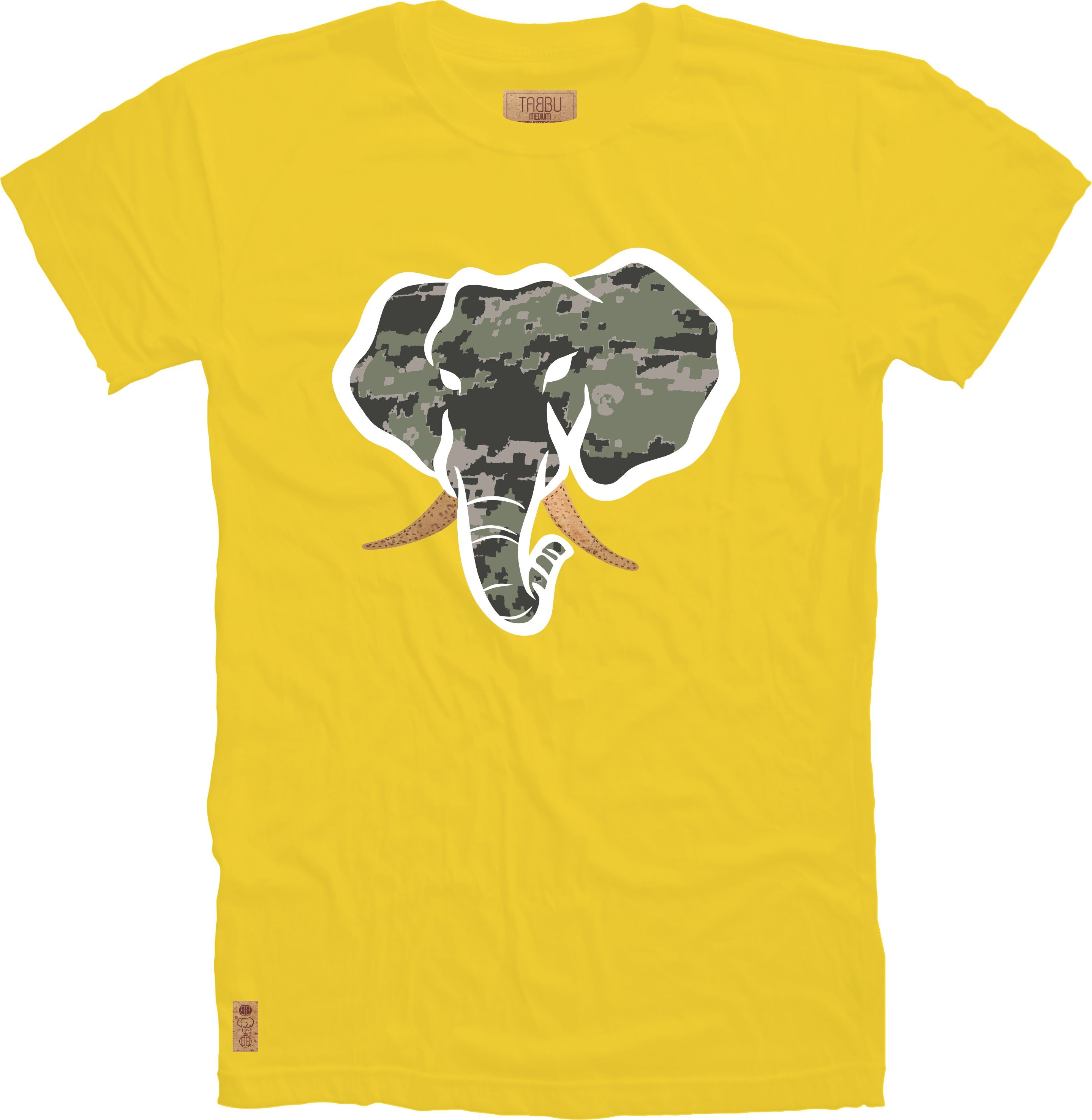 Trunk Insert Crewneck Tee in Yellow
