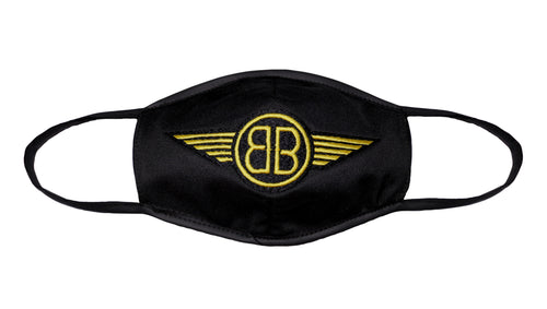 B Wing Face Mask in Black with Yellow Classic or Reversible