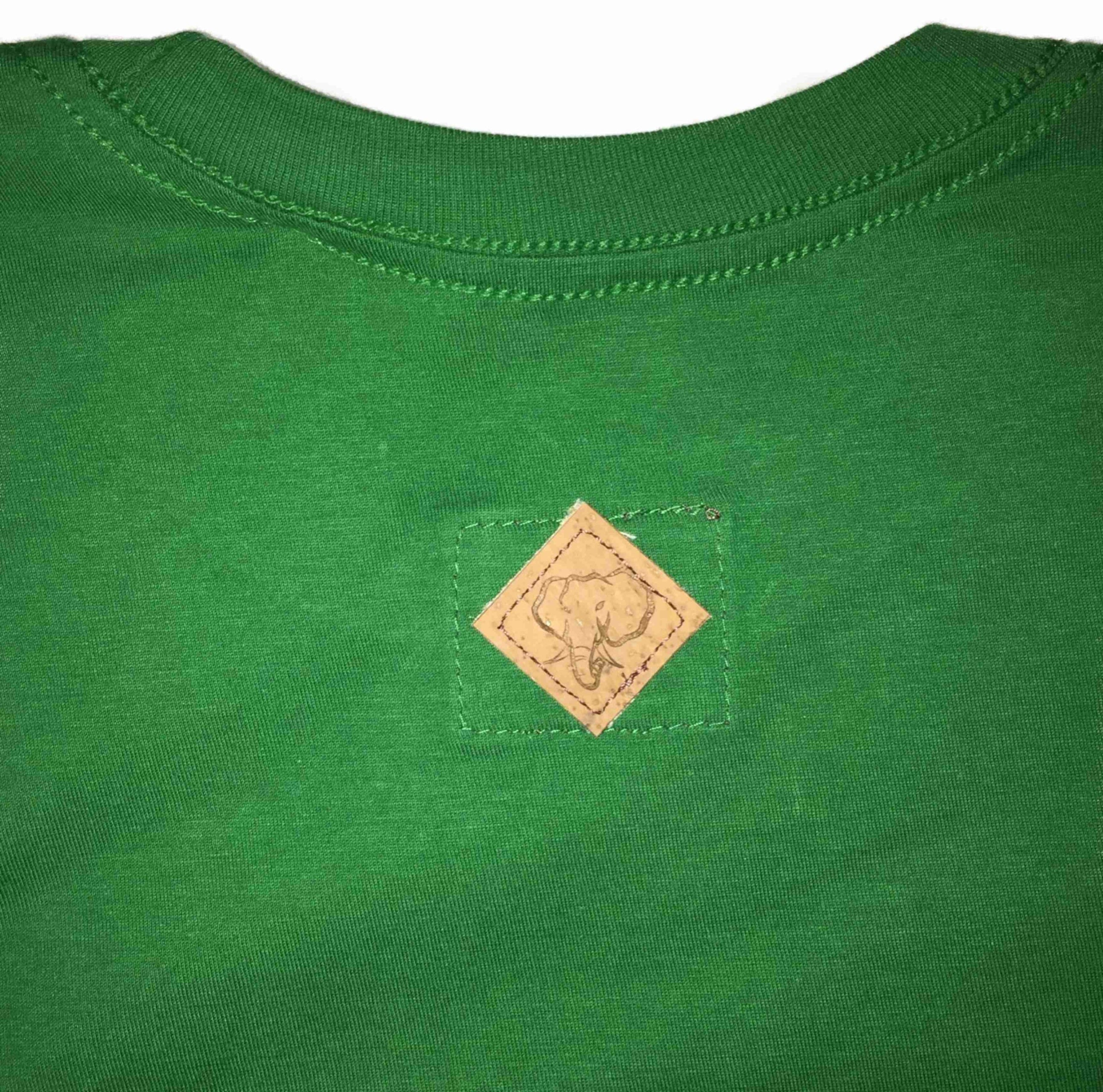 Elephant Shield Crewneck Tee in Green