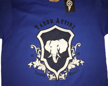 Load image into Gallery viewer, Elephant Shield Crewneck Tee in Royal