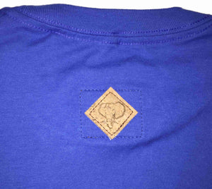 Elephant Shield Crewneck Tee in Royal