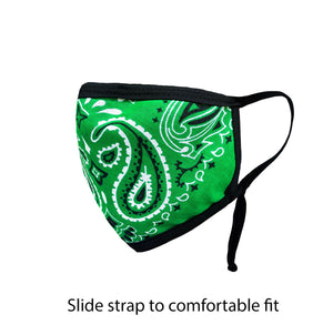 .Green Paisley Adjustable Strap