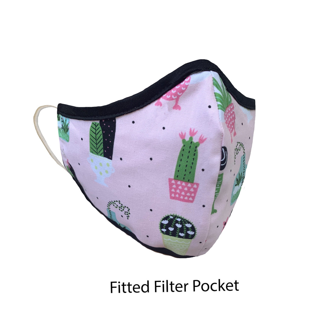.Fitted Filter Pocket Pink Cactus
