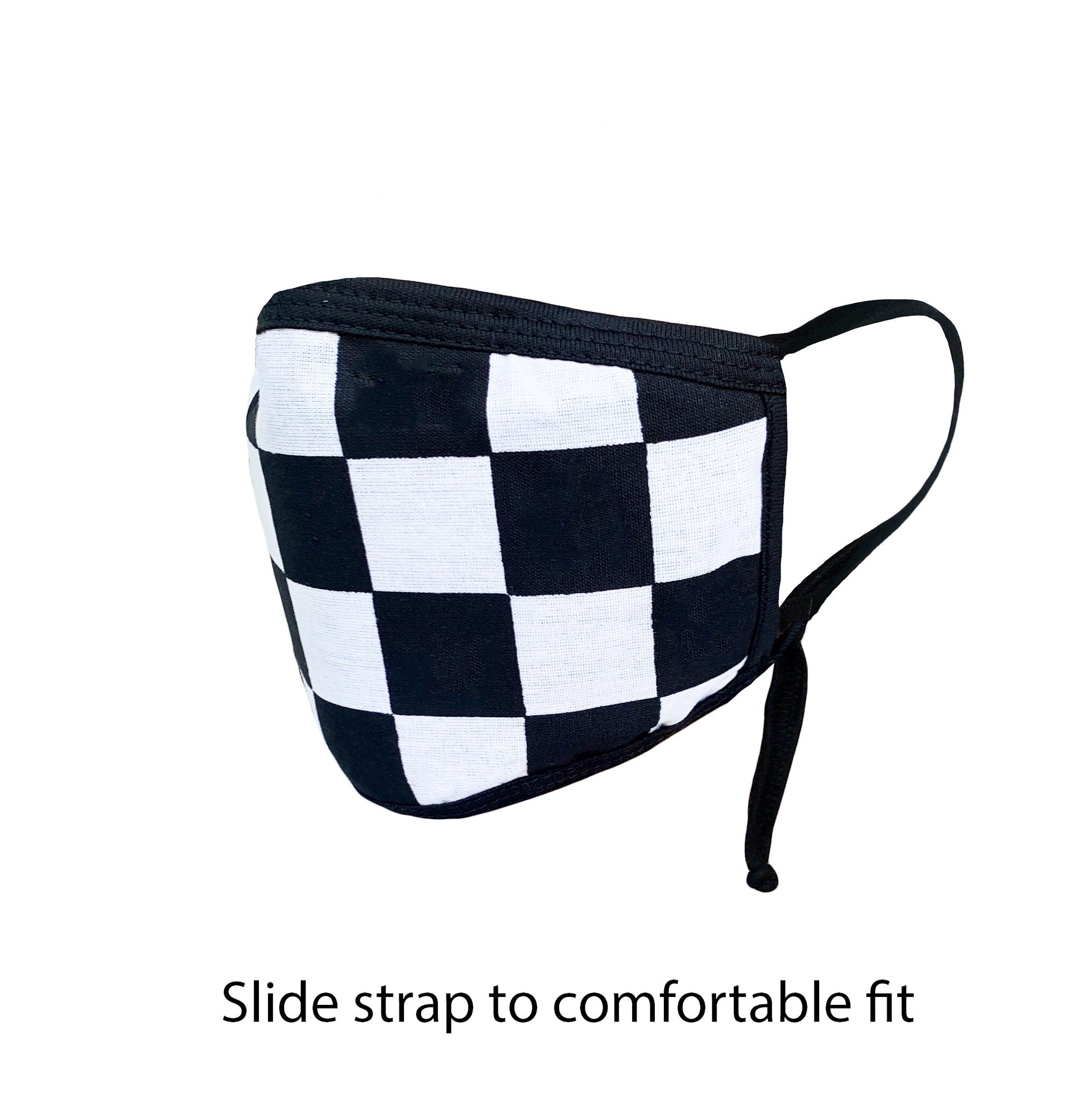 .Checker black & White Adjustable Strap