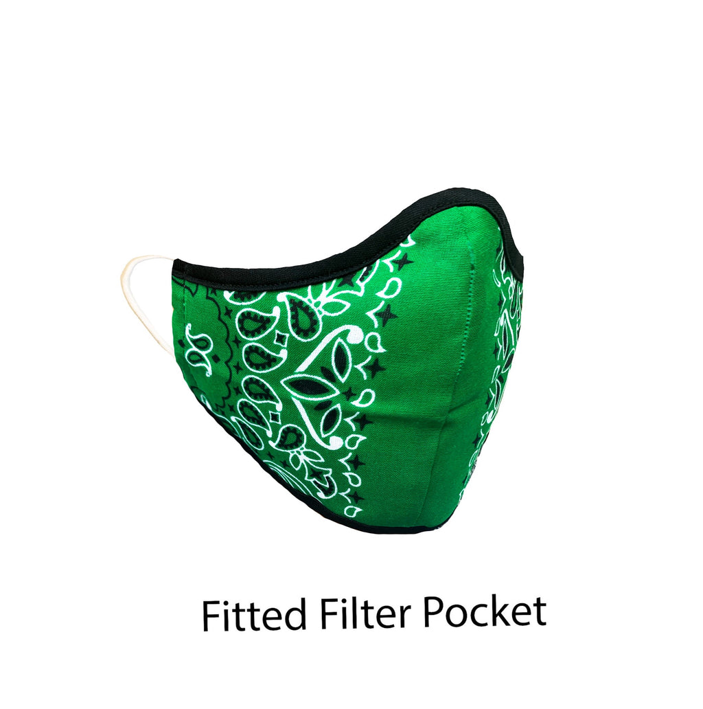 .Fitted Filter Pocket Green