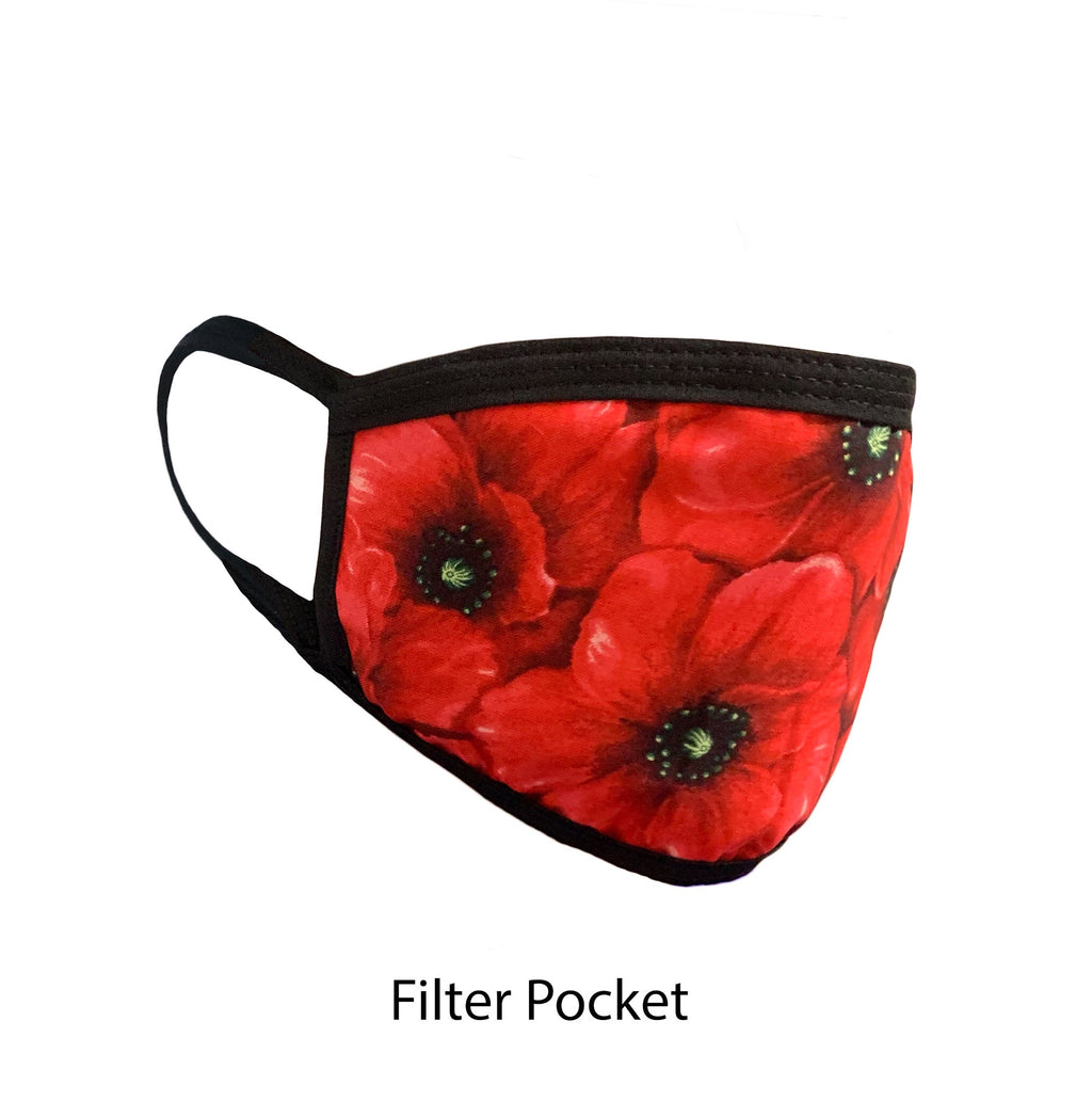 .Rouge Flowers Adjustable Strap