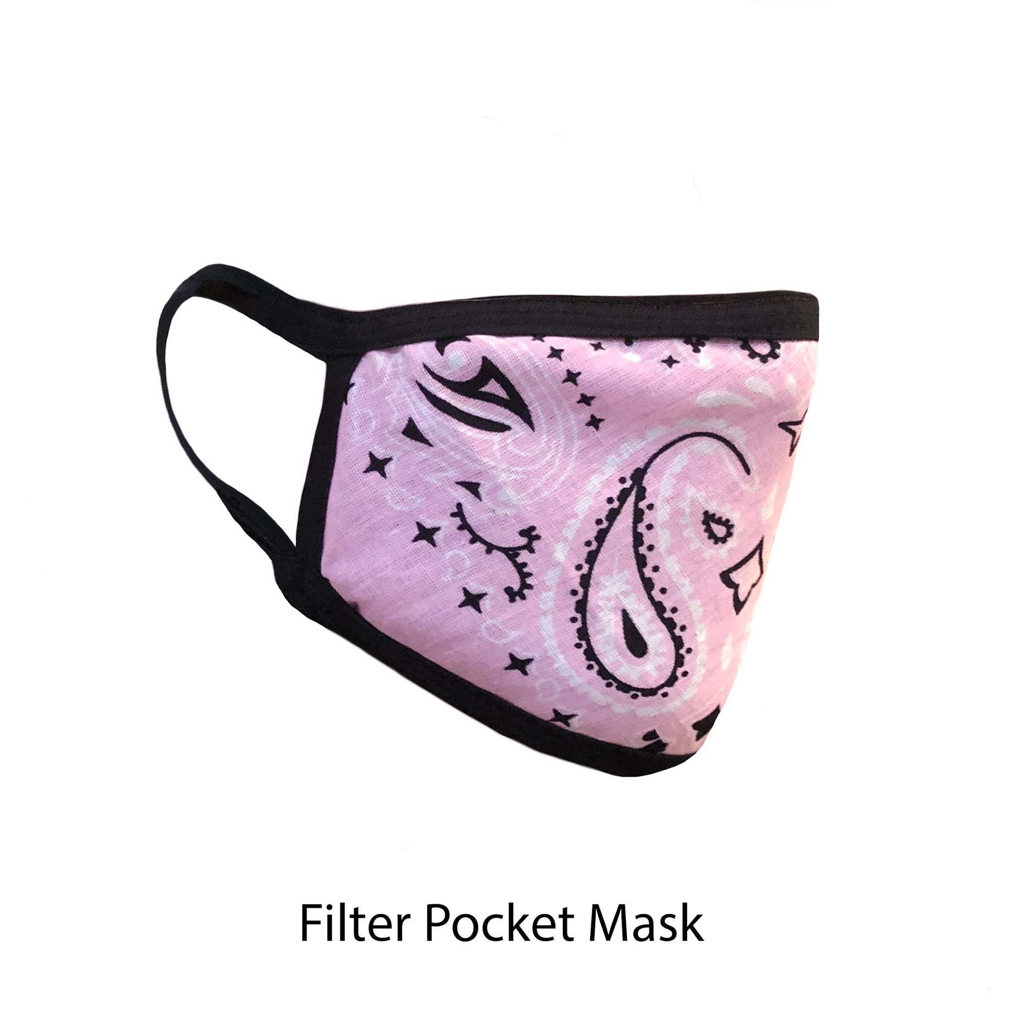 .Pink Paisley Adjustable Strap Face Mask