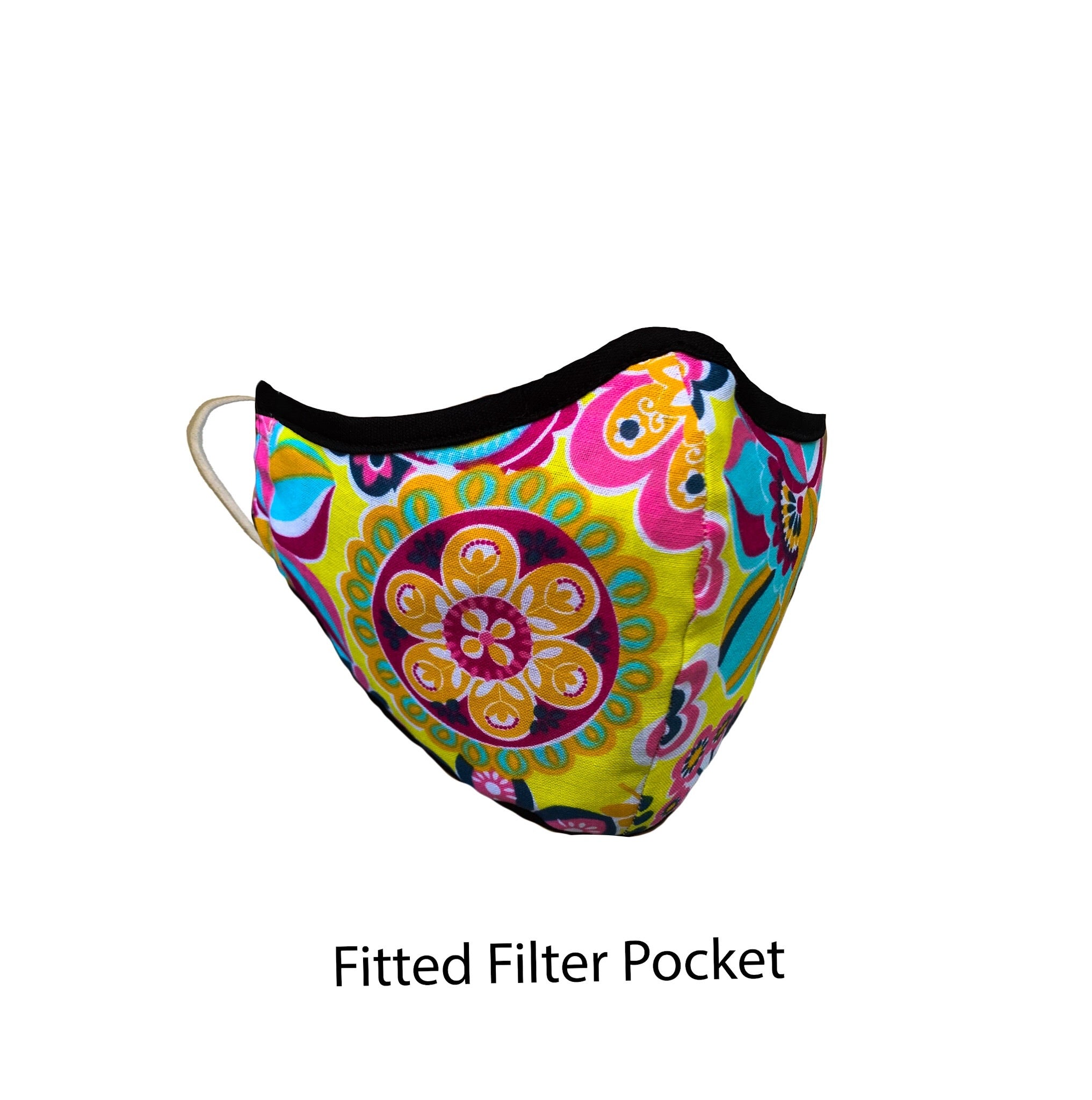.Fitted Filter Pocket Colorful Flower