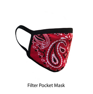 .Red Paisley Adjustable Strap