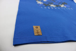 Puzzle Insert Crewneck Tee in Royal
