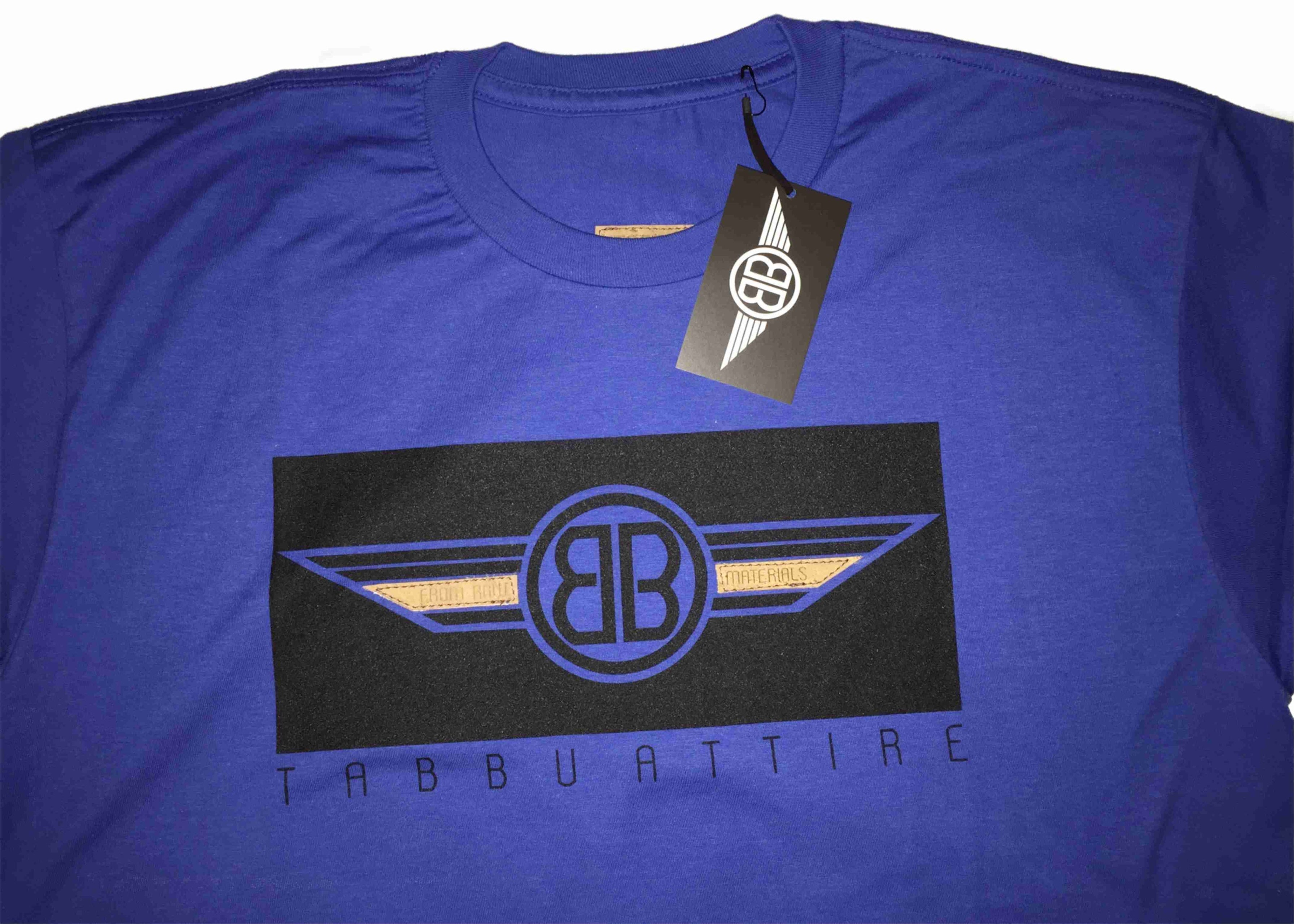 Double B Wing Crewneck Tee in Royal