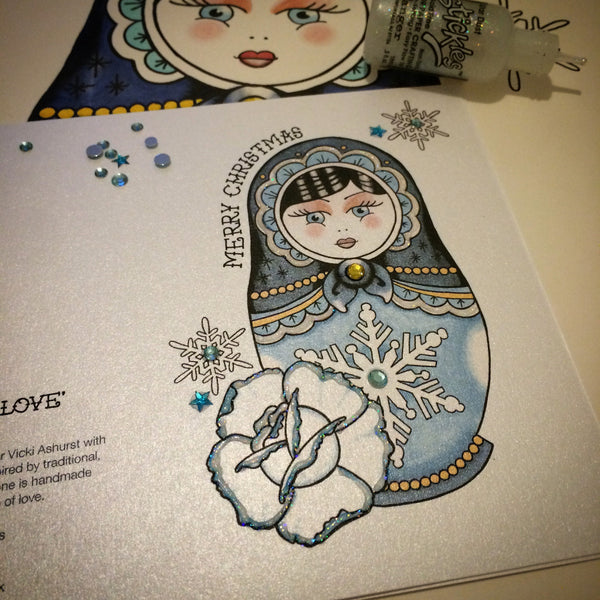 New Frosted Russian Doll card