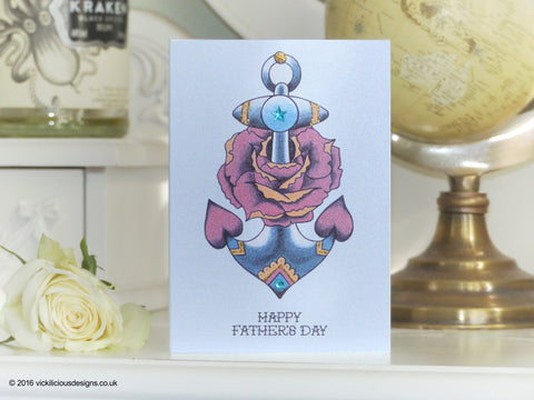 c20897eaee33f Handmade Tattoo Father's Day Cards | by Vickilicious Designs