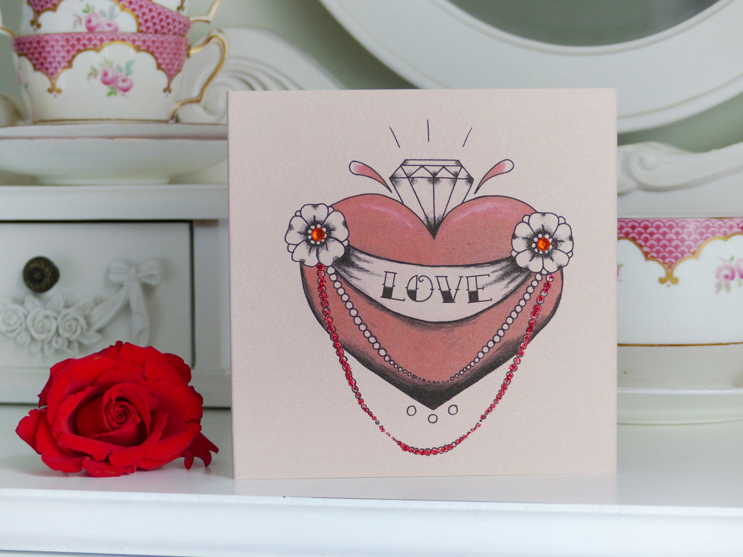 Handmade Valetine S Day Card Diamond Heart Tattoo Vickilicious
