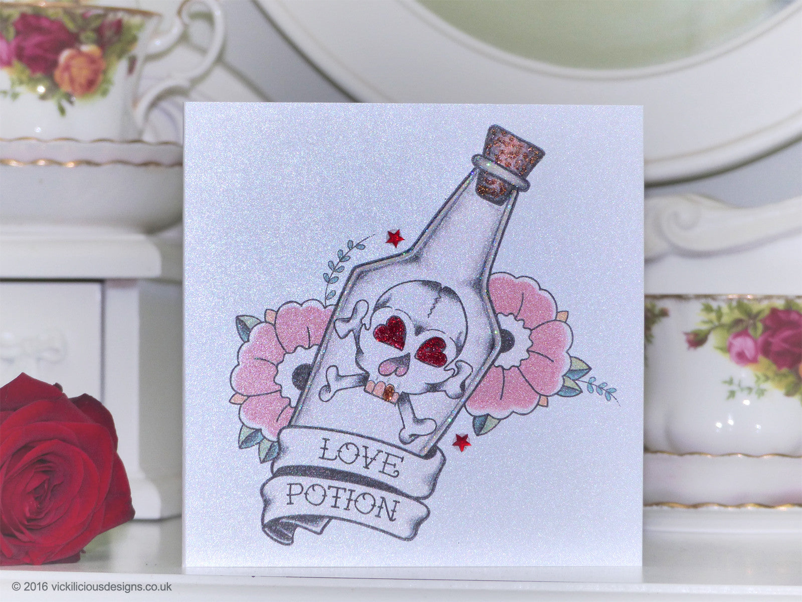Handmade Valentine S Day Card Love Potion Tattoo Vickilicious