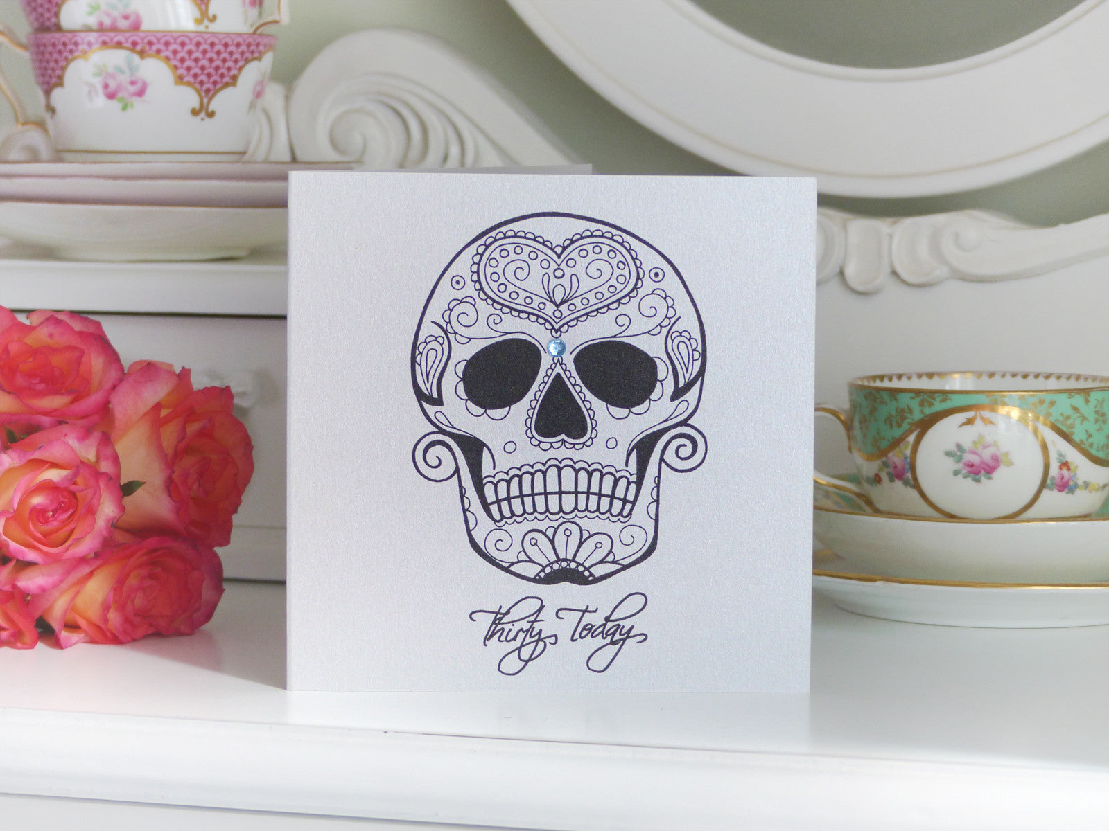 handmade birthday card  love sugar skull tattoo th, Birthday card