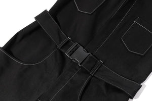 Black Denim Boiler Suit