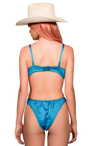 The Lovers Set - Electric Blue Satin Panty
