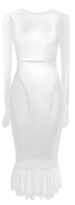 The Tulle Maxi Dress - White