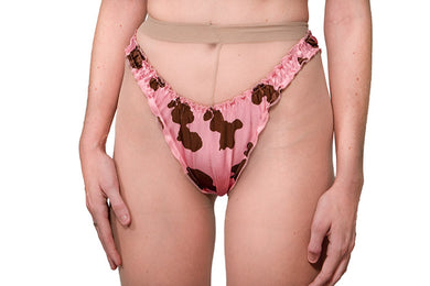The Lovers Set - Cow Print Satin Panty