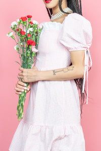 The Pink / White Gingham Moscow Dress