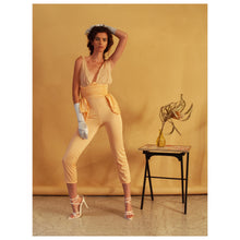 Load image into Gallery viewer, Apricot Chiffon Jumpsuit