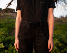 Load image into Gallery viewer, Black Denim Boiler Suit