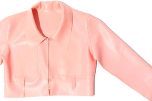Pink Latex Moto Jacket